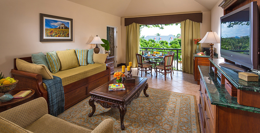 French Village Two Bedroom Concierge Suite Living Room - F2
