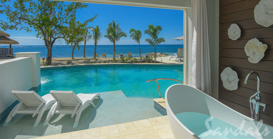 Dutch Beachfront One Bedroom Swim Up Butler Suite with Patio Tranquility Soaking Tub - 1SUP