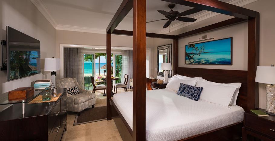 Sandals Negril Paradise Honeymoon Beachfront Room