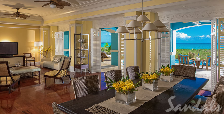 Royal Estate Beachfront Two Story One Bedroom Butler Villa Suite with Pool - BSP