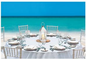 Beaches Free Wedding Reception Table