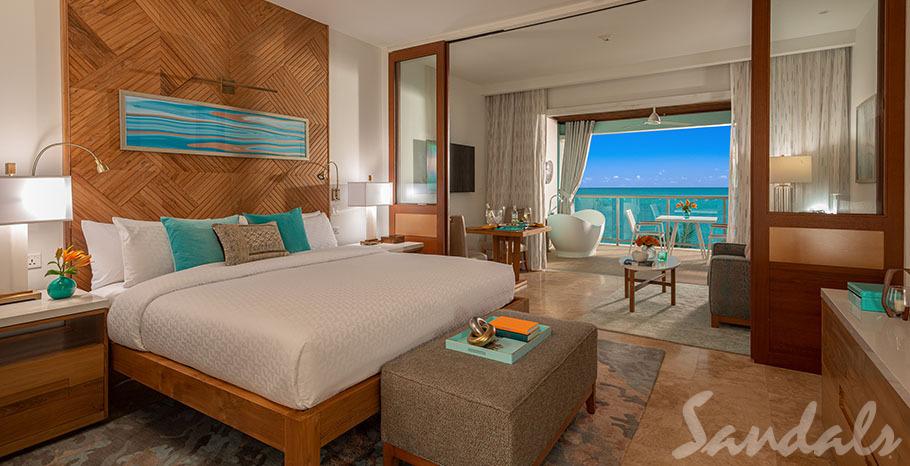 Sandals Montego Bay Beachfront Honeymoon One-Bedroom Butler Suite w/ Balcony Tranquility Soaking Tub - B1B