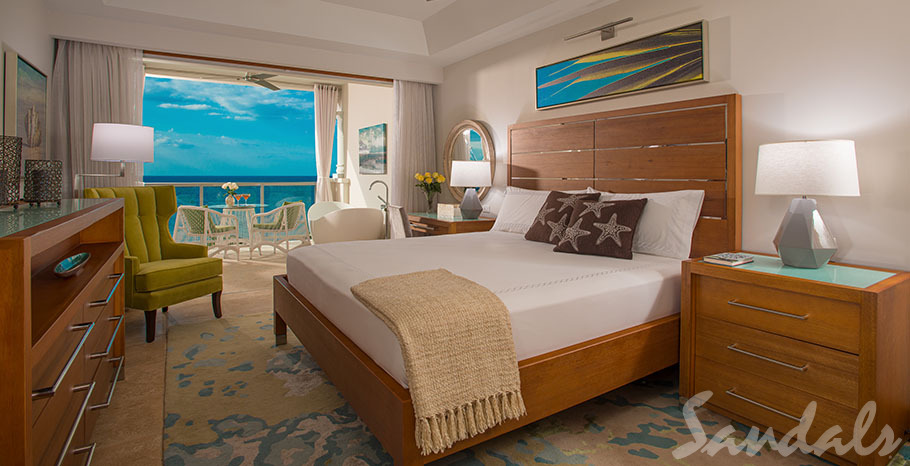 Sandals Montego Bay Beachfront Grande Luxe Club Level Junior Suite w/Balcony Tranquility Soaking Tub - GBT