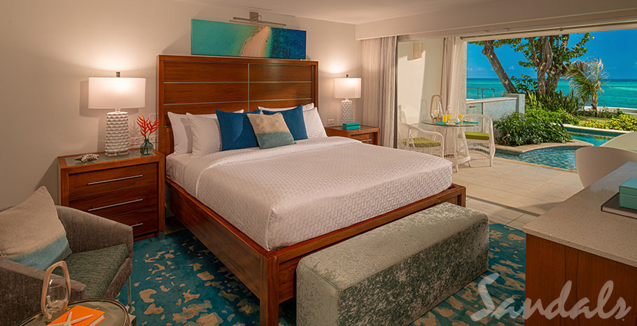 Sandals Montego Bay Oceanfront Swim-up Butler Suite w/ Patio Tranquility Soaking Tub - OSS