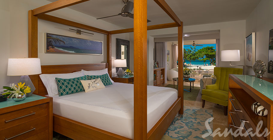 Sandals Montego Bay Beachfront Honeymoon Walkout One-Bedroom Butler Suite w/Tranquility Soaking Tub - OWT