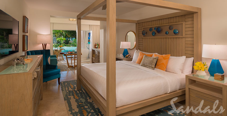 Sanadls Montego Bay Crystal Lagoon Swim-up One-Bedroom Butler Suite w/ Patio Tranquility Soaking Tub - S1B