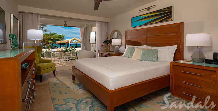 Sandals Montego Bay Beachfront Honeymoon Walkout Club Elite Junior Suite w/Patio Tranquility Soaking Tub - WGBT
