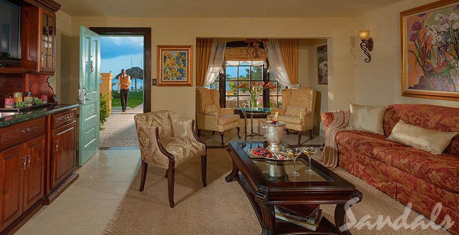 Sandals Montego Bay Beachfront One Bedroom Butler Villa Suite - 1B