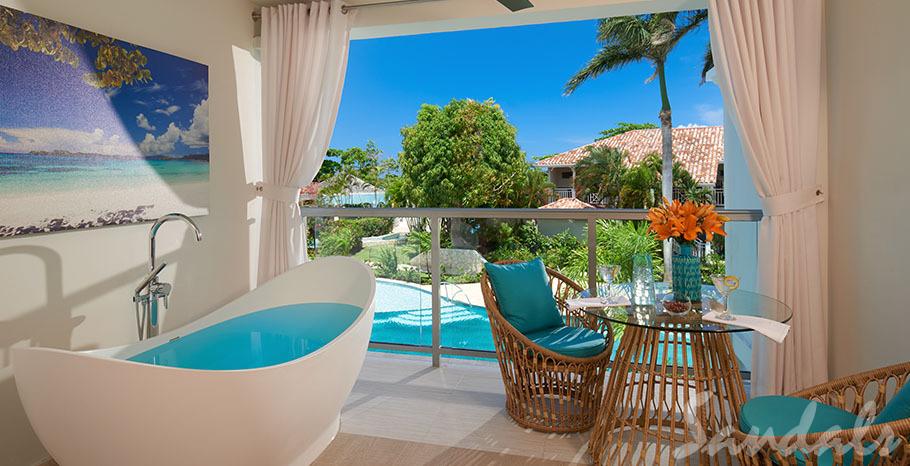 Sandals Montego Bay Crystal Lagoon Honeymoon Oceanview Luxury Room w/ Balcony Tranquility Soaking Tub - OLX