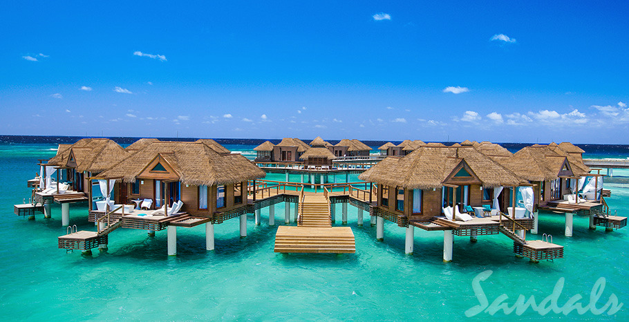 Sandals Royal Caribbean Over-the-Water Private Island Butler Honeymoon Bungalow - OWB