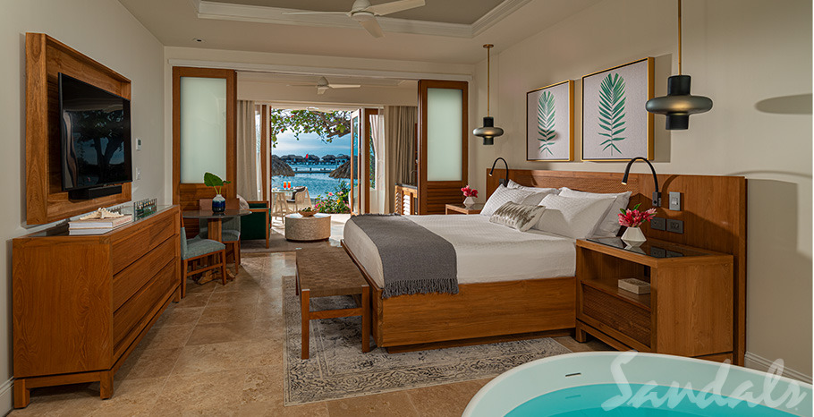 Sandals Royal Caribbean Beachfront Honeymoon One-Bedroom Walkout Butler Suite w/ Patio Tranquility Soaking Tub - WB1B