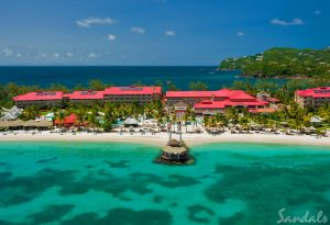 View of Sandals Grande St. Lucian Resort
