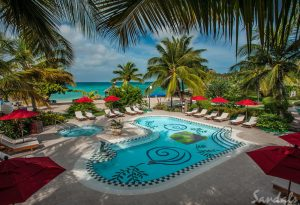 One of the pools at Sandals Grande St. Lucian